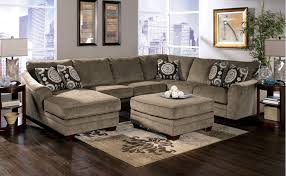 Black Fabric Sectional Sofas U Shabby Grey Fabric Sectional Sofa With Chaise And Black Cushions