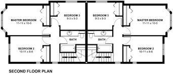 Narrow Lot Duplex Floor Plans by Very Narrow Lot Duplex House Plan Hunters