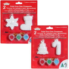 4 pack house paint your own ornaments kits