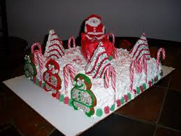christmas cake with little debbie cakes gingerbread candy canes