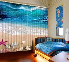 chambre en 3d mondern style plage literie chambre 3d rideaux 3d fenêtre rideaux