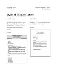 Document 2 Block Style Business Letter Practice Letter Styles And Formats Choice Image Letter Sles Format