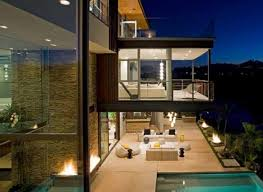 modern home design modern house lake hollywood gardening outdoor