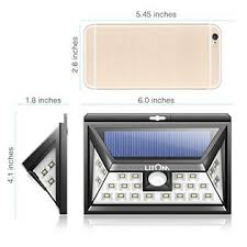 litom solar lights outdoor litom 24 led outdoor motion sensor solar lights wide angle with 3