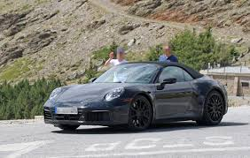 porsche sedan convertible porsche 992 convertible resurfaces for weather testing
