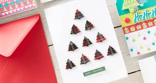 how to make an easy tree christmas card hobbycraft blog