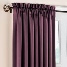 Curtains Plum Color by Madison Room Darkening Rod Pocket Panels Energy Savers