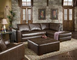 Leather Chaise Sofa Jerome S Furniture Living Room Featuring The Cocoa Collection