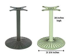 iron horse table base outdoor table bases restaurant furniture florida greater ta for