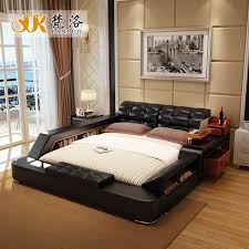 bedroom furniture with lots of storage modern leather queen size storage bed frame with side storage