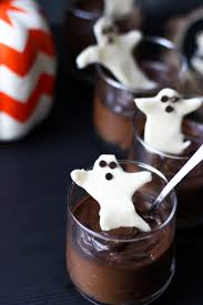 chocolate pot de creme white chocolate bark for halloween