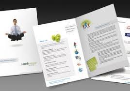 one fold brochure corporate bi fold brochure template designs