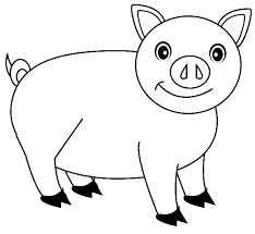 smile pig coloring pictures pig cartoon coloring pages