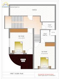 Square Floor Plans For Homes Duplex House Plan And Elevation U2013 1770 Sq Ft Home Design