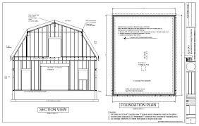 g440 28 u2032 x 36 u2032 x 10 u2032 gambrel barn workshop plans blueprint free