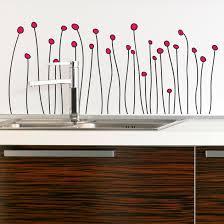 dotted flowers vinyl wall decal dotted flowers wall decal