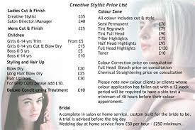 philippine hairstylist in uk salon price list salon pricing