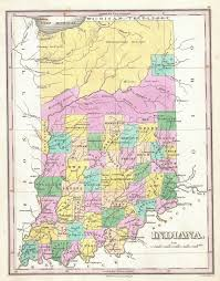 Map Indiana File 1827 Finley Map Of Indiana Geographicus Indiana Finley