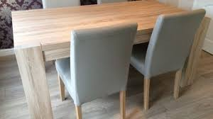 6 Seater Oak Dining Table And Chairs The Best Of Extendable Light Oak Dining Table And 8 Chairs In