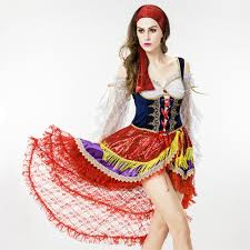 Halloween Costumes Spanish Dancer 8818 Party Costume Queen Pirates Caribbean Fashion