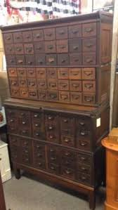 Globe Wernicke File Cabinet For Sale by Antique Nuts Bolts Hardware Apothecary Cabinet 70 Drawer Oak Wood