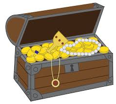 cartoon pirate treasure chest