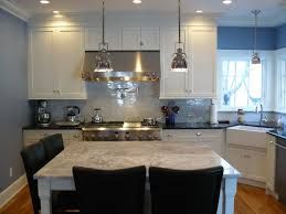 super white granite island black granite surround carrara marble