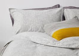 Cotton Bedding Sets Fleck 100 Brushed Cotton Bed Set Grey Made