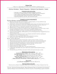 Warehouse Distribution Resume Warehouse Supervisor Resume Bio Letter Format