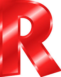 clipart effect letters alphabet red