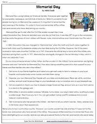 a memorial day worksheet