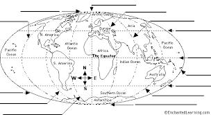 latitude and longitude printout enchantedlearning com
