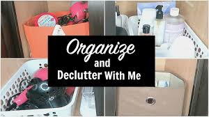 organize and declutter with me bathroom cabinet youtube