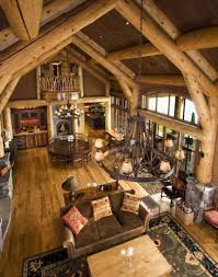 interior mesmerizing cabin for hunting room with wood log