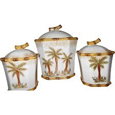 palm tree ceramic kitchen canisters for accessories ideas glass