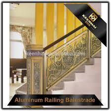 interior prefab art handrail aluminum indoor stair railings for