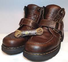 dr martens mens boots brown leather 9444 buckle laceup england 9