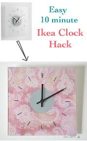 a quick ikea skoj wall clock hack anika u0027s diy life