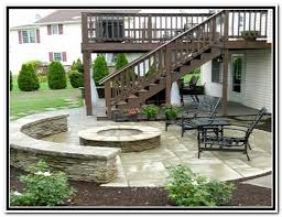 Patio And Deck Ideas Patio Under Deck With Separate Firepit Patio Patios U0026 Deck