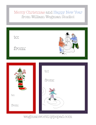 happy holidays and printable gift tags wegman world