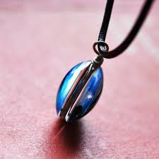 blue glass pendant necklace images Galaxy cosmic blue glass pendant necklace luvalti jpg