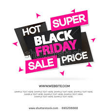 black friday pink sale black friday sale banner your promotion stock vector 492130954