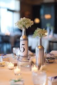 wine bottle wedding centerpieces silver wine bottle centerpieces