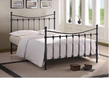 Single Metal Bed Frame Sale Black Metal Bed Frame With White Bedding And Grey Walls 60