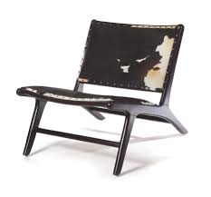 Modern House Furniture Wood Furniture Mesmerizing Cowhide Armchair With Wooden Material For