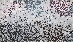 Toulemonde Bochart Soldes by Tapis Laine Confettis Gris 200x300 Toulemonde Bochart