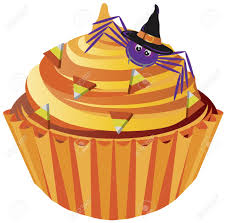 Halloween Witch Cake by Halloween Cupcake With Spider With Witch Hat And Candy