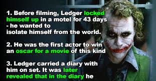 Heath Ledger Halloween Costume 15 Disturbing Truths Heath Ledger U0027s Joker Aunty Acid Buzz