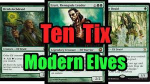 mtg budget modern elves deck tech youtube