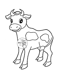 cow pictures to color little cow coloring page for kids animal